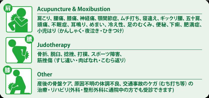 伊丹 鍼灸 整骨院 症状のタイプ